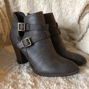 Just Fab brown booties size 11